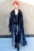 blue paisley some velvet vintage cardigan