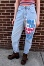 Light-blue-new-kids-some-velvet-vintage-jeans
