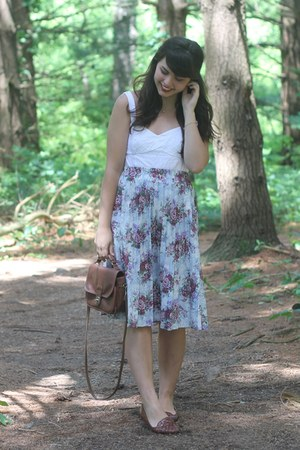 light purple thrifted skirt - ivory Aeropostale top