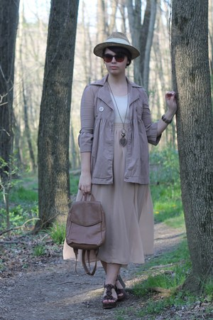 ivory Vedette intimate - tan kohls coat - camel thrifted skirt