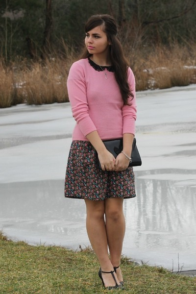 black Forever21 dress - bubble gum thrifted sweater