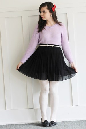 black Forever21 skirt - light purple LuLus sweater