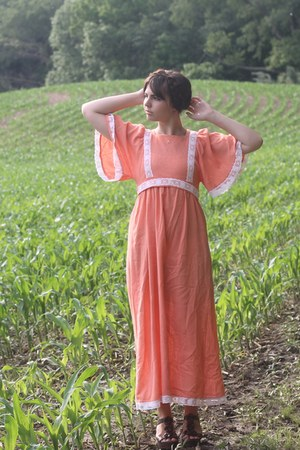 orange thrifted dress