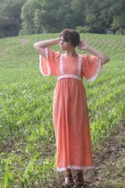 orange thrifted dress