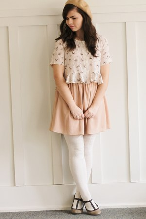 light pink Fleet Collection dress - eggshell thirfted top