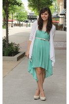 LuLus dress - TJ Maxx cardigan - Yes Walker heels