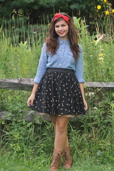 navy Target skirt - periwinkle Target shirt