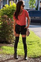 Forever21 shirt - Urban Behaviour shorts - Forever 21 boots - Rue 21 socks - H&M