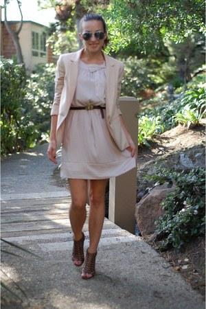 Report shoes - H&M dress