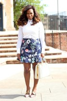 Zara skirt - christian dior shoes - Prada bag
