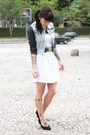 White-renner-dress-blue-faux-leather-c-a-jacket-black-luna-biju-belt