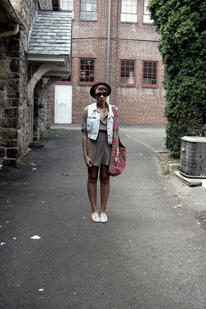 Forever 21 dress - H&M hat - H&M sunglasses - thrifted vest - Urban Outfitters s