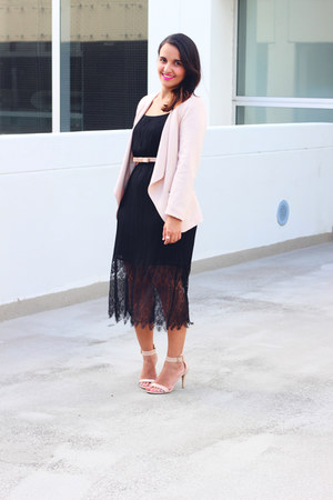 Forever 21 dress - H&M blazer - Payless sandals