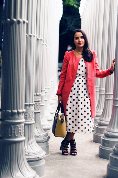 Forever 21 dress - H&M coat - Topshop heels