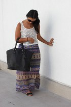 tribal Forever 21 skirt