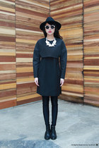 H&M shoes - iohll dress - Topshop hat - Mosstories necklace - Spitfire glasses