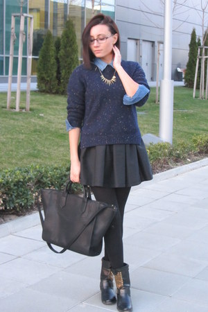 Zara bag - Mango sweater