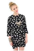 Geisha Feather Dolman Dress