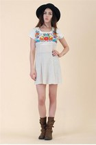 Santa Fe Embroidered Mini Dress