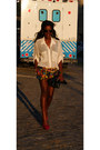 Steve-madden-shoes-h-m-shorts-market-publique-belt-american-apparel-blouse