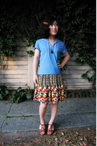 Etsy accessories - vintage top - Corey Lynn Calter skirt - vintage shoes - vinta