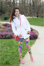 White-trench-coat-gap-jacket-floral-leggings-joe-fresh-leggings