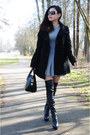 Black-guess-boots-heather-gray-talula-dress-black-marc-new-york-coat