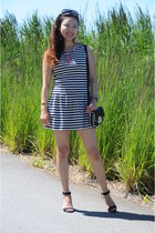 Juicy Couture bag - striped dress Forever21 dress