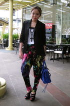 Topshop blazer - Forever 21 accessories - pinkaholic fashion shoppe pants - Mang