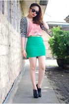 pinkaholic skirt - Zara top - Topshop cardigan