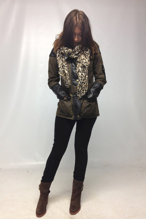 Barbour Gold by Temperley coat - castaner boots - MOTHER Denim jeans