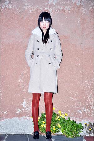 JCrew coat - Melissa Vivienne Westwood wedges - laundry vest