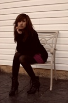 sweater - dress - tights - payless boots