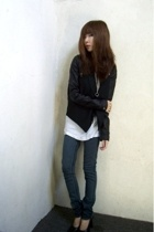 H&M jacket - vintage vest - American Apparel - Kill City jeans - vintage shoes