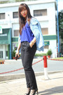 Sky-blue-jjeans-shirt-black-next-pants-blue-forever-21-top