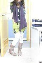 Dries Van Noten top - top - top - jeans - vintage boots - Zara scarf