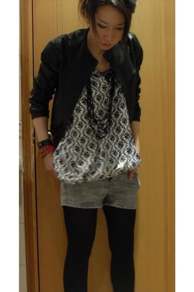 Isabel Marant jacket - blouse - shorts - boots