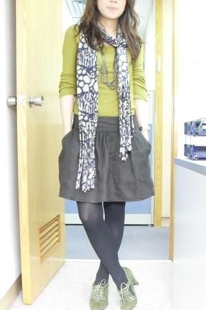 top - Zara skirt - shoes