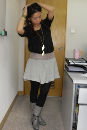 Isabel Marant blouse - skirt - boots