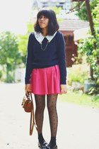 sweater - blouse - loafers