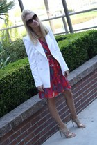 assymetrical Target dress - Zara blazer - tortoise shell Forever 21 sunglasses -