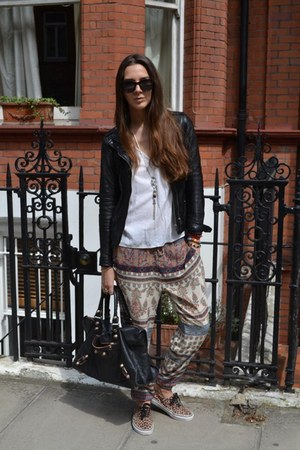 Bershka jacket - balenciaga bag - Vans sneakers - Pull and Bear pants
