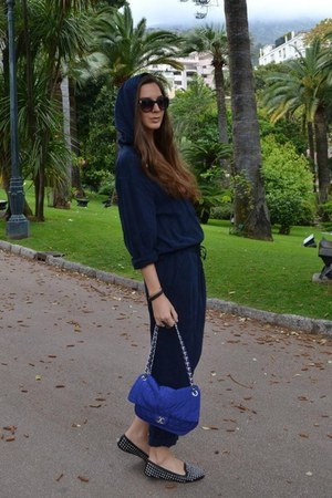 jumpsuit River Island pants - blue Chanel bag
