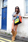 Camel-minnetonka-boots-light-yellow-celine-bag-primark-shorts