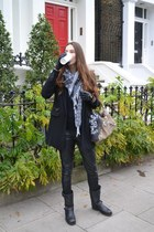 Pull and Bear coat - ASH boots - Louis Vuitton scarf