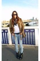 acne jeans - ASH boots