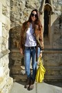 Mango-jeans-zara-jacket-yellow-balenciaga-bag