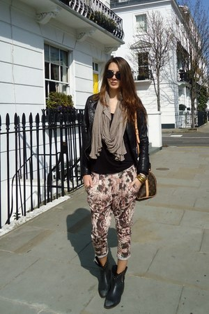 Topshop pants - ASH boots - Bershka jacket - Louis Vuitton bag - dior sunglasses