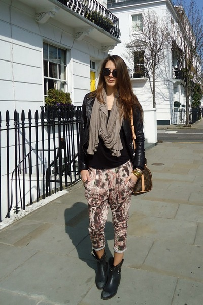 Topshop pants - ASH boots - Bershka jacket - Louis Vuitton bag - dior sunglasses