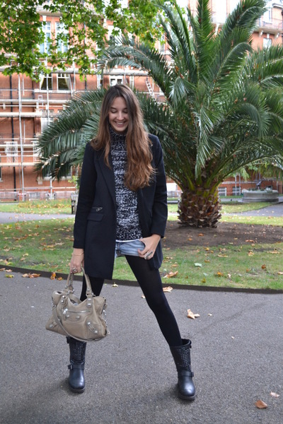 ASH boots - Pull and Bear jeans - balenciaga bag - Zara jumper